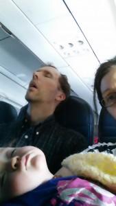 Ellie's first flight